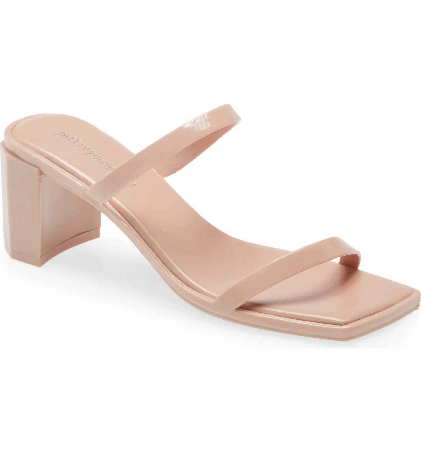 Nude slide sandals