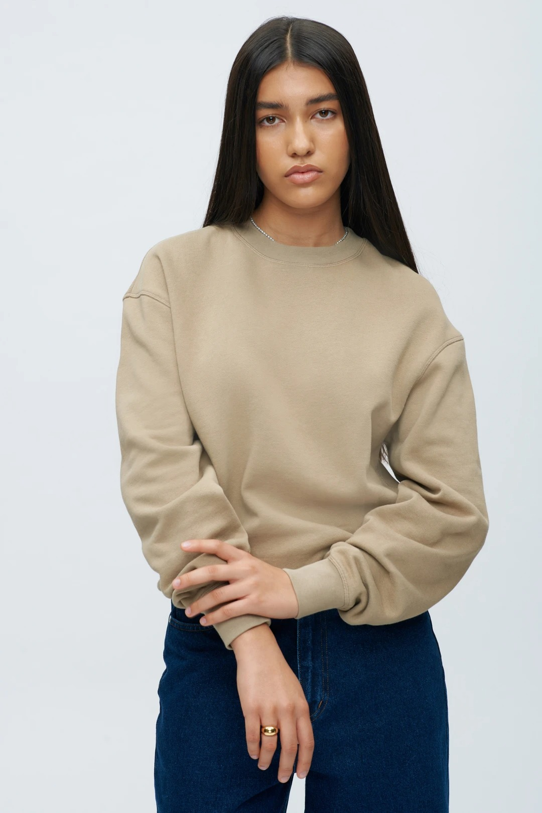 Brown pullover sweater