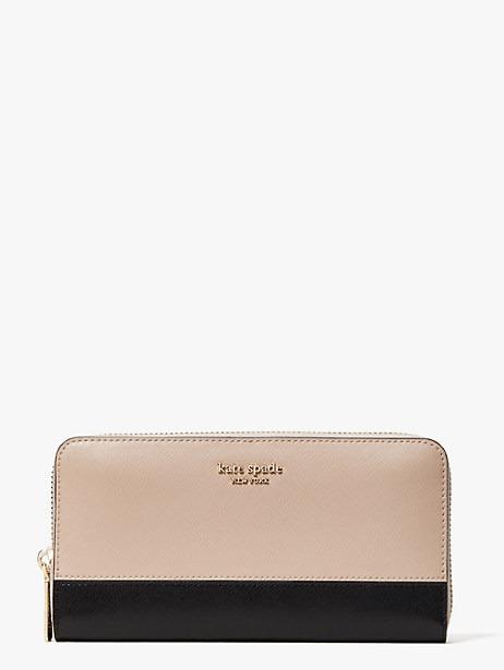 Kate Spade two-tone zip-around wallet