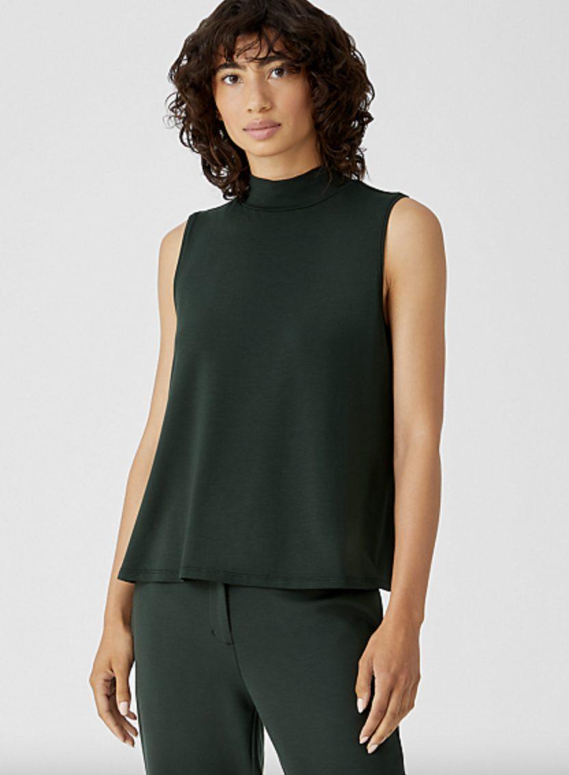 Emerald green turteneck halter top