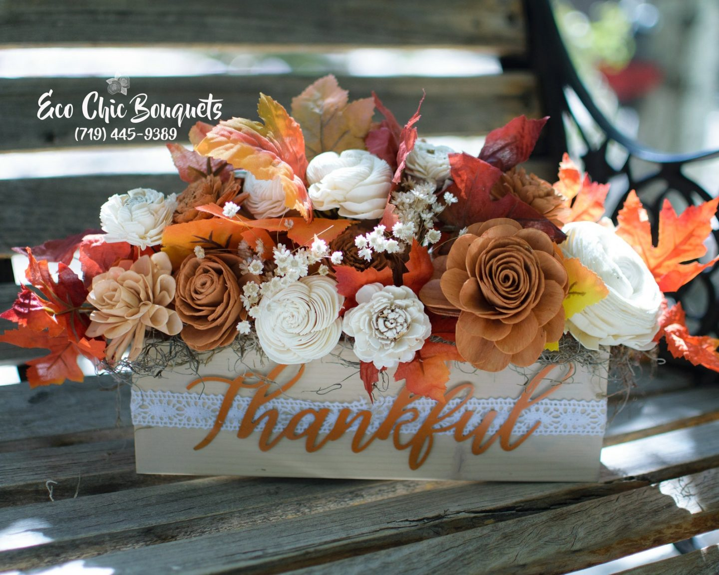 Thankful fall floral centerpiece