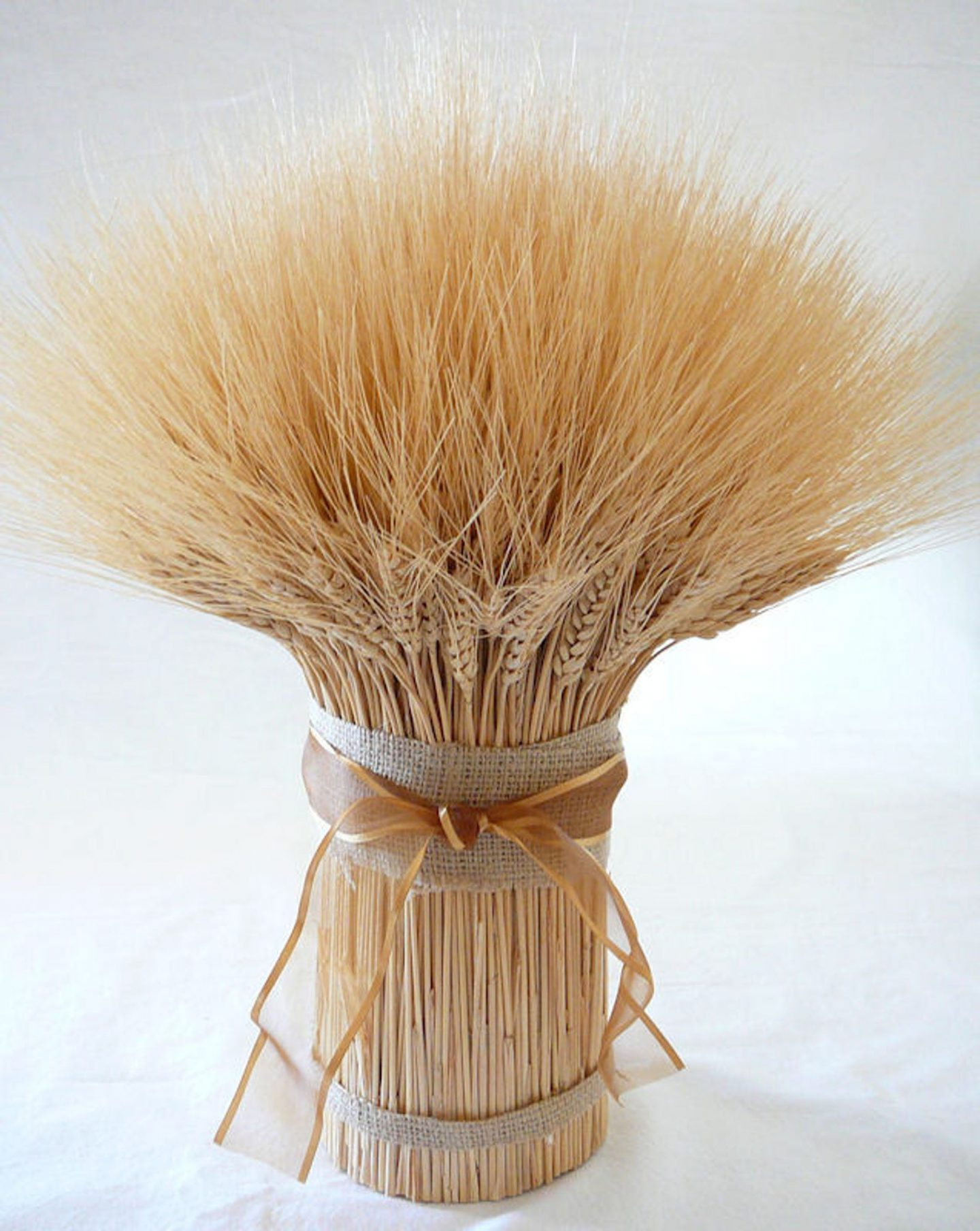 Wheat centerpiece for fall and Thanksgiving