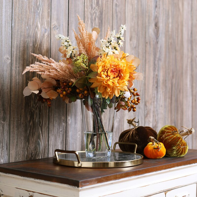 Fall flowers and foliage arrangement