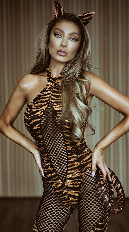 Hot tiger Halloween costume for women