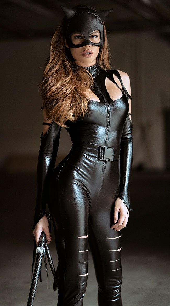 Hot catwoman Halloween costume for women