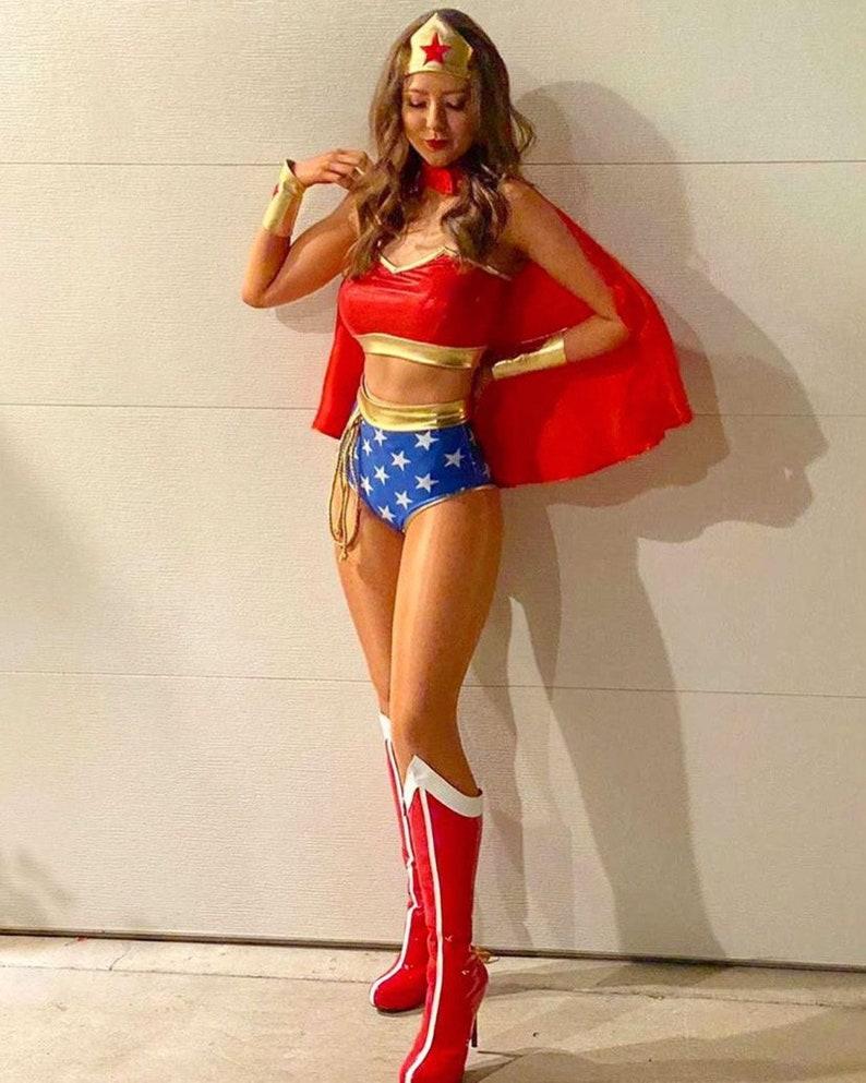 Hot Wonder Woman Halloween costume for women