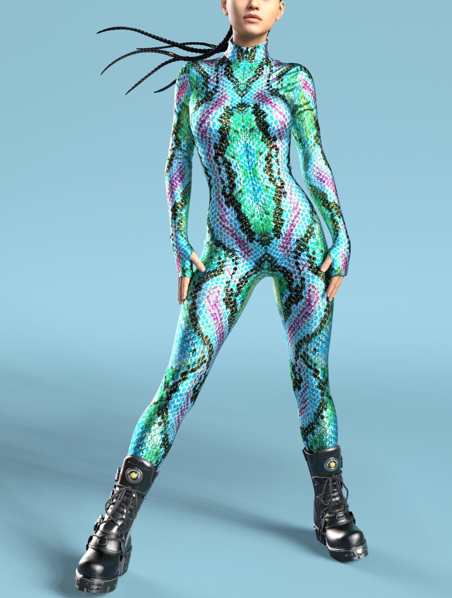 Hot holographic snake Halloween costume for women
