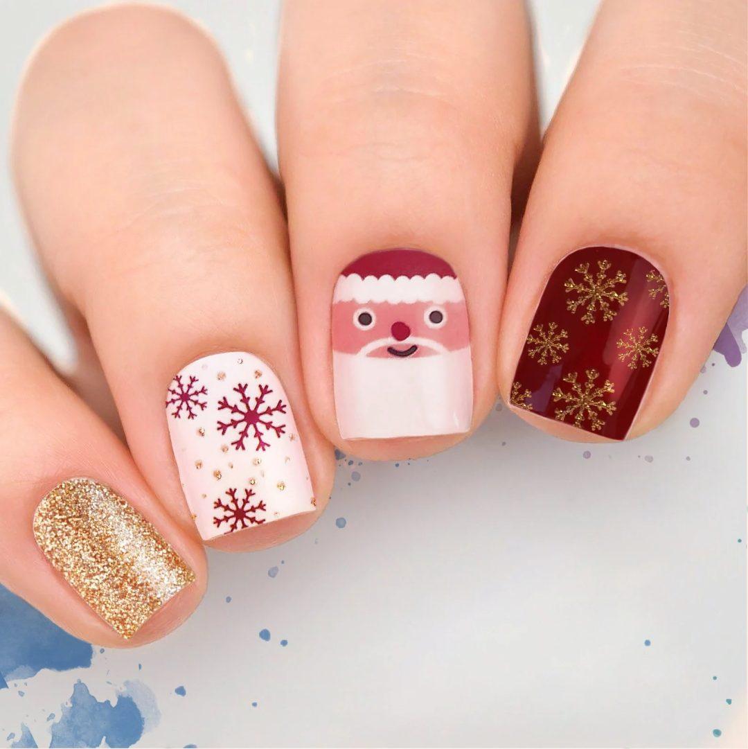 Christmas snowflake nail wraps