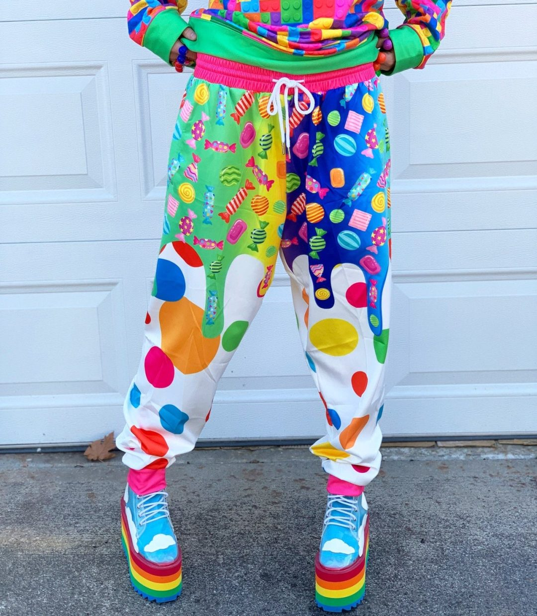 Cute kidcore aesthetic outfit with joggers
