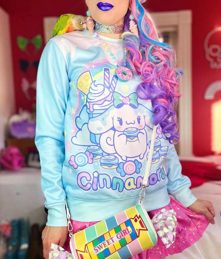 Cute pastel kidcore aesthetic outfit with cinnamonroll