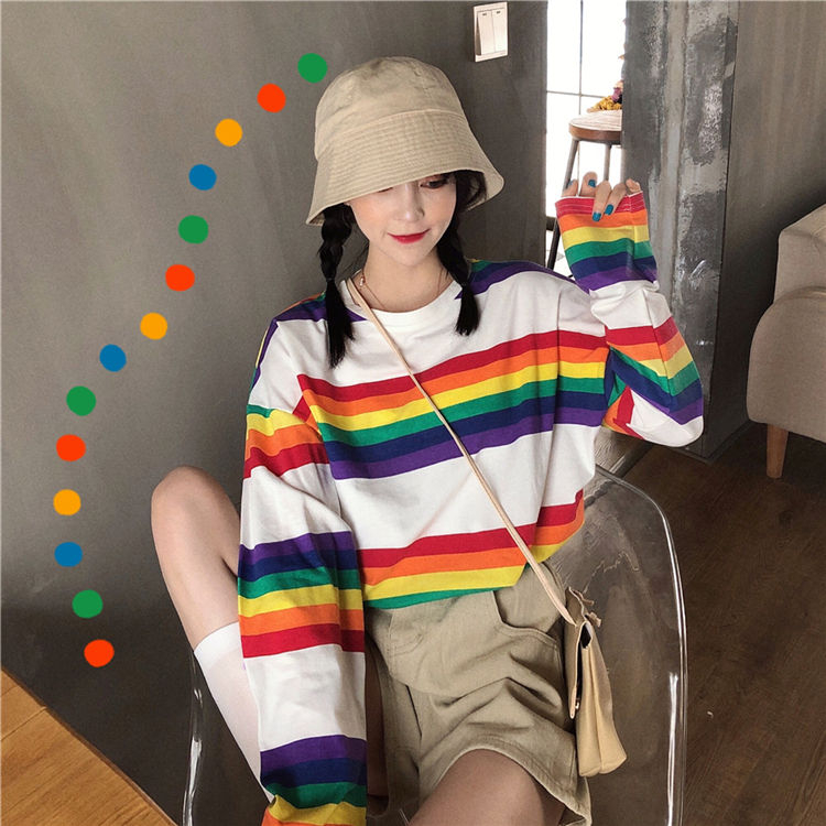 Cute rainbow kidcore outfit