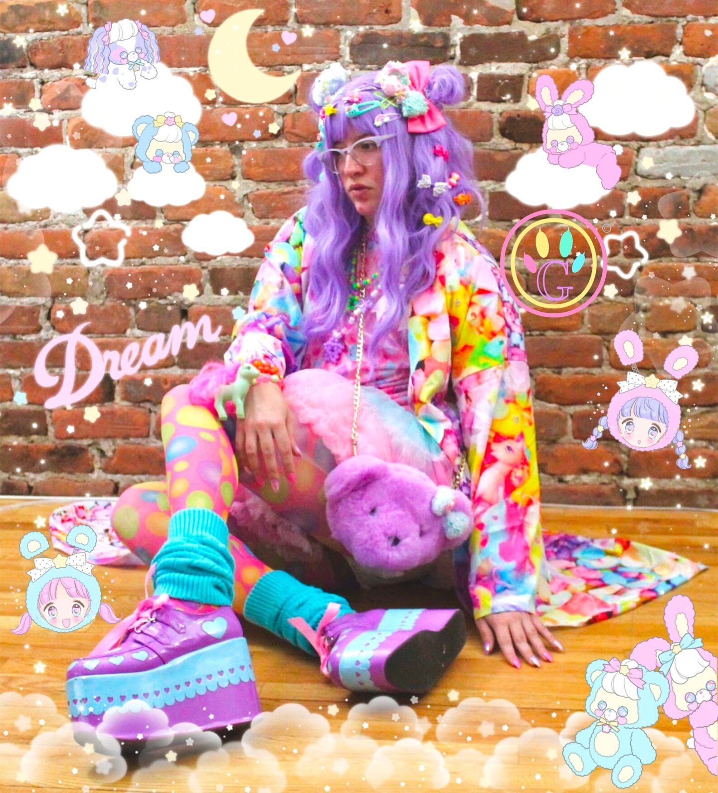 Cute pastel kidcore outfit