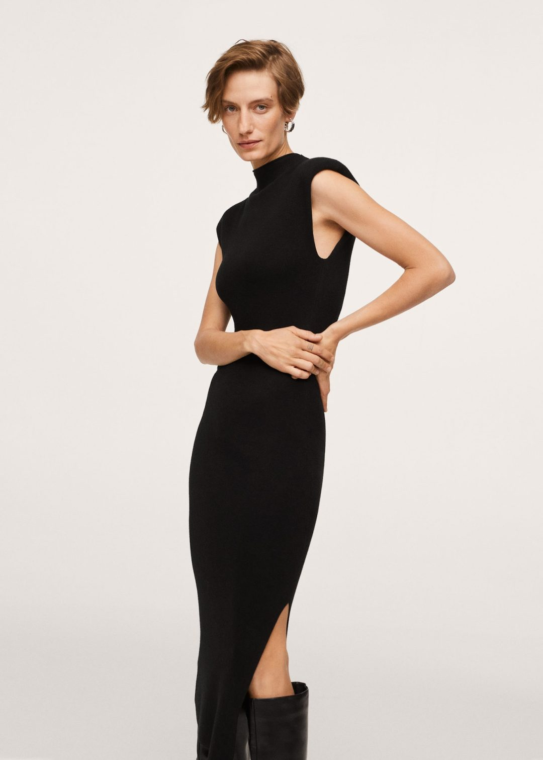 Cute minimalist and aesthetic black dress