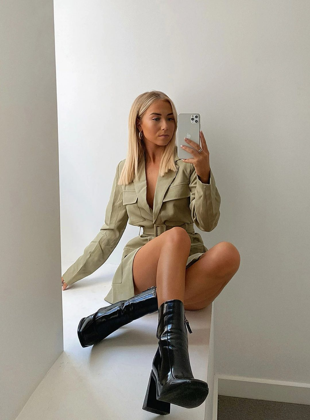 Sage green dress for baddie outfits