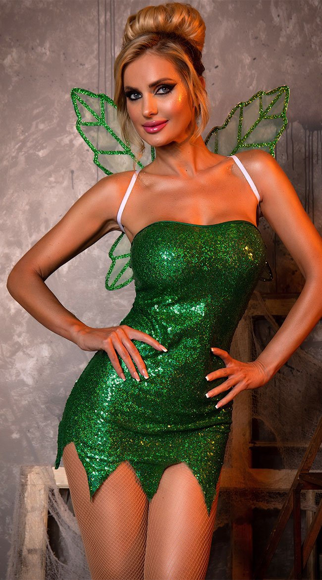 Cute and hot Tinkerbell Halloween costume for women